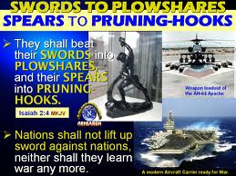"""Google images, """"Beat your swords into plowshares."""""""