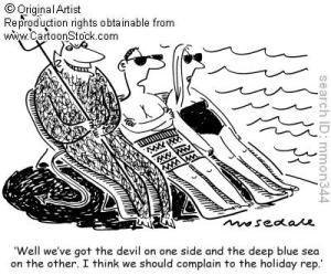 "Google images, ""Between the devil and the deep blue sea"""